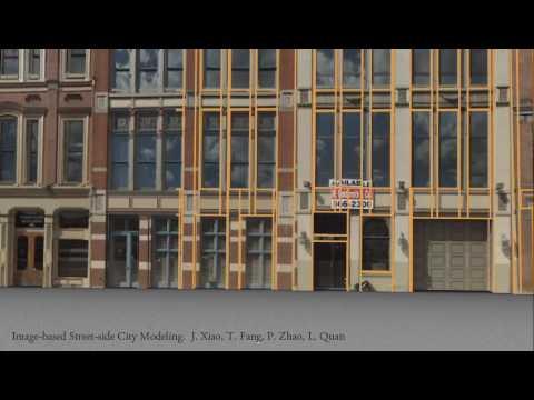 Image-based streetside city modeling