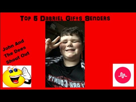 Top 5 Dabriel Gift Senders On Musically