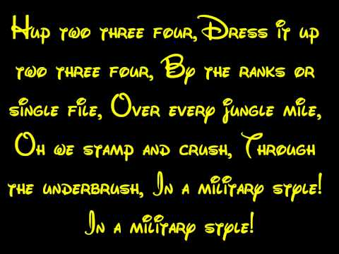 Colonel Hathi's March - The Jungle Book Lyrics HD