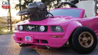 Man Puts Real Engine in Barbie Car, Goes Very Fast  - Car Reviews Channel