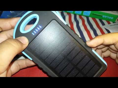 Unboxing powerbank solar Charge ES500 (indonesia)