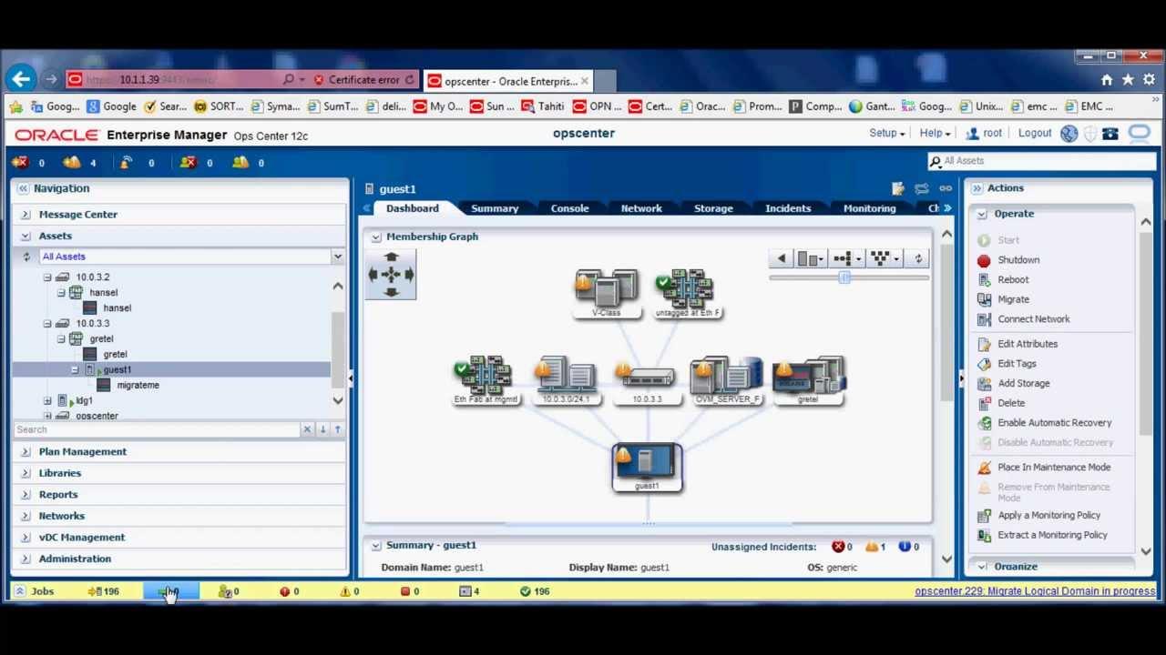 Live Migration with Oracle Enterprise Manager Ops Center 12c - GANTEK  TECHNOLOGY - Tayfun Akbaş