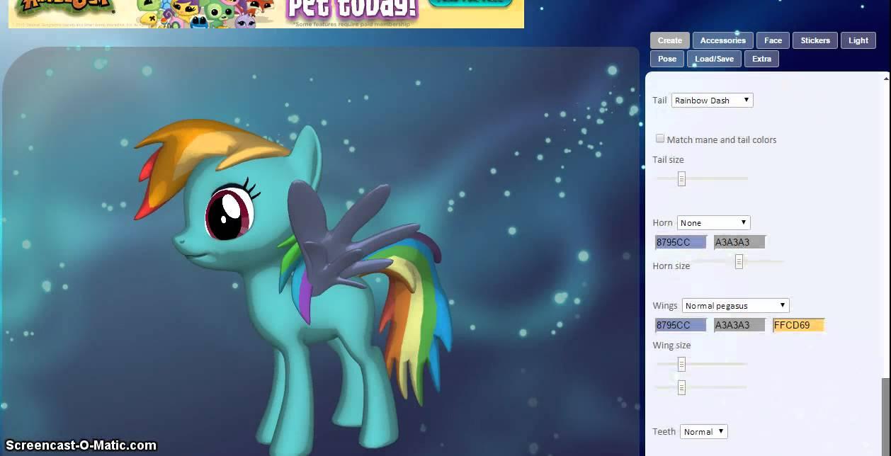 3d pony creator tutorial rainbow dash youtube for 3d building creator