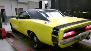 1969 Dodge Charger 440 Stroker 512 met maatwerk RVS einddempers