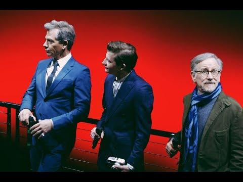 Steven Spielberg, Tye Sheridan, Ben Mendelsohn at the BFI IMAX SCREENING  READY PLAYER ONE