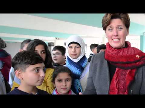 Minister Bibeau speaks about a Canada-UNICEF project in Zgharta
