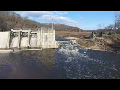 Willow river dam DRONE