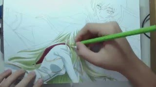 Speed Drawing - Lelouch and C.C. (Code Geass)