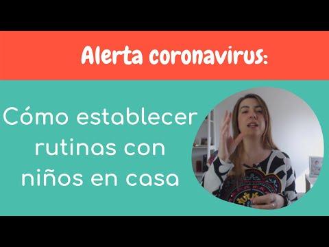 Alerta coronavirus: Cómo establecer rutinas con niños en casa