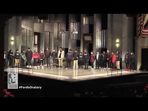 Ford's Theatre   The Lincoln Oratory Festival 2019, MacFarland Middle School, D.C.