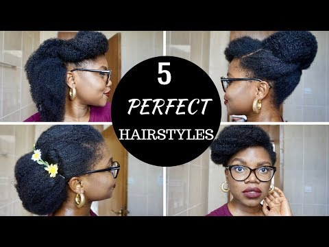 5 Minutes Back to School/ College Natural black Hairstyles on 4c Hair