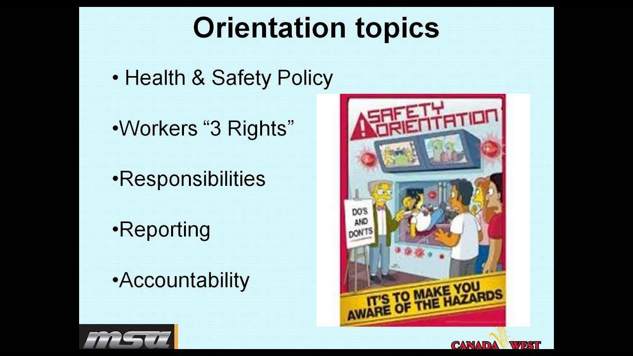 MSA Safety Orientation - YouTube