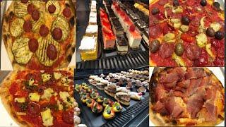 อิตาเลี่ยนพิซซ่ากับของหวานน่าทานมากค่ะ  talian pizza and deserts.