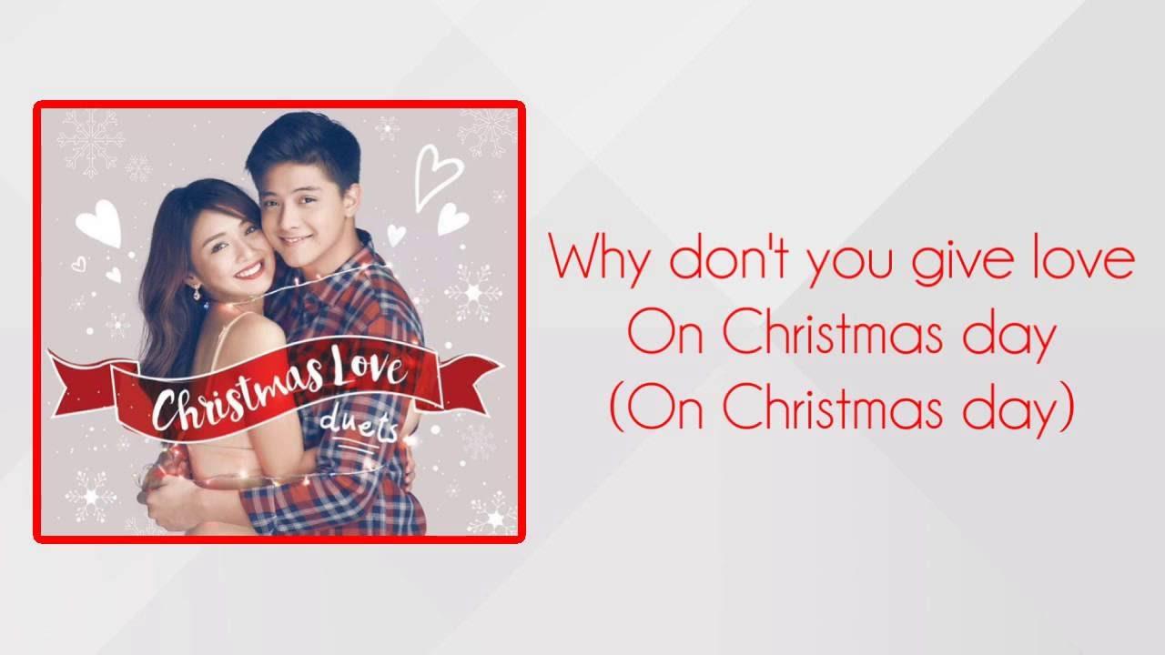 "Kathniel ""Give Love on Christmas Day"" (Lyrics Video) - YouTube"
