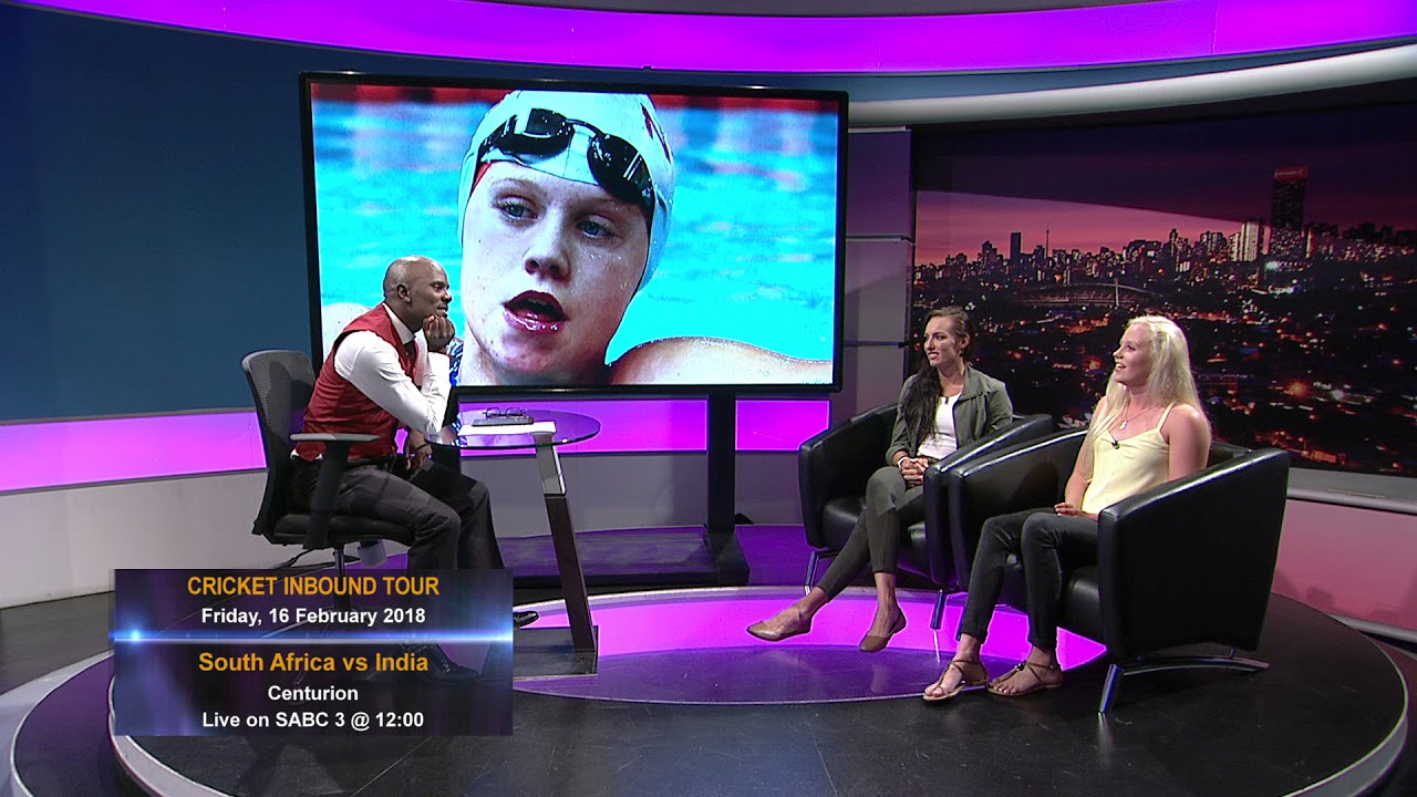 Thomas Mlambochats to South African swimming sensations Dune Coetzee and Tatjana Schoemaker