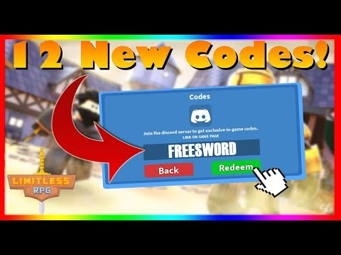 ⚔️ Limitless RPG *All* 12 New Working Codes!⚔️ (2020)  ROBLOX
