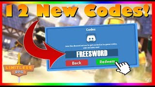 ⚔️ Limitless RPG *All* 12 New Working Codes!⚔️ (2019) | ROBLOX