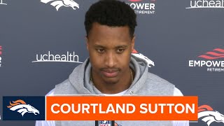 Courtland Sutton on QB Drew Lock: 'I love how the guy comes to work and he just does what he does'