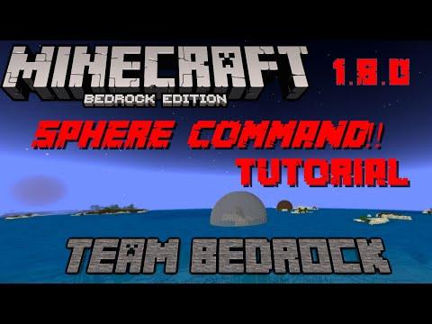 SPHERE COMMAND !!! MINECRAFT WORKS ON ALL PLATFORMS !!! TEAM BEDROCK 1.8.0