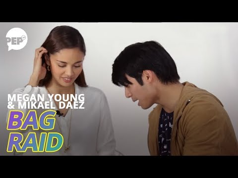 Mikael Daez surprised at what he found inside Megan Young's backpack | PEP Bag Raid