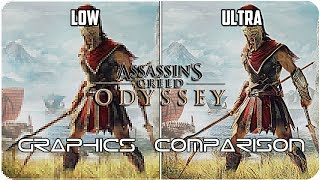 Assassin's Creed Odyssey - PC - Low. vs Ultra detailed Graphics Comparison 4K