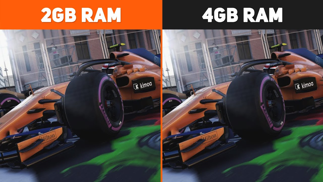 2GB RAM vs. 4GB RAM Test in 5 Games | Performance Comparison #1
