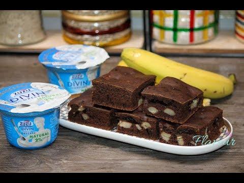 Prajitura rapida cu iaurt si banane