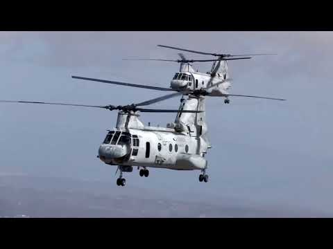 US Marines Helicopter CH 46 Sea Knight US Military Navy