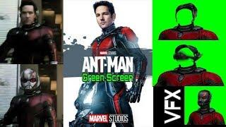 Antman helmet up - green screen vfx