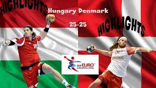 HUNGARY - DENMARK Handball (25-25) HIGHLIGHTS EURO Men Qualification Croatia 2018 Group