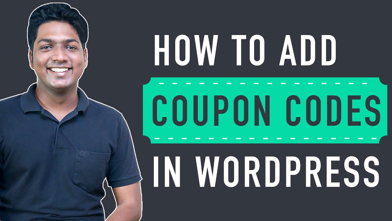 How to Add Coupon Codes in WordPress (woocommerce)
