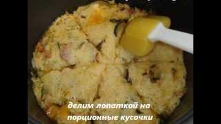 Запеканка из цукини с овощами и сыром в мультиварке