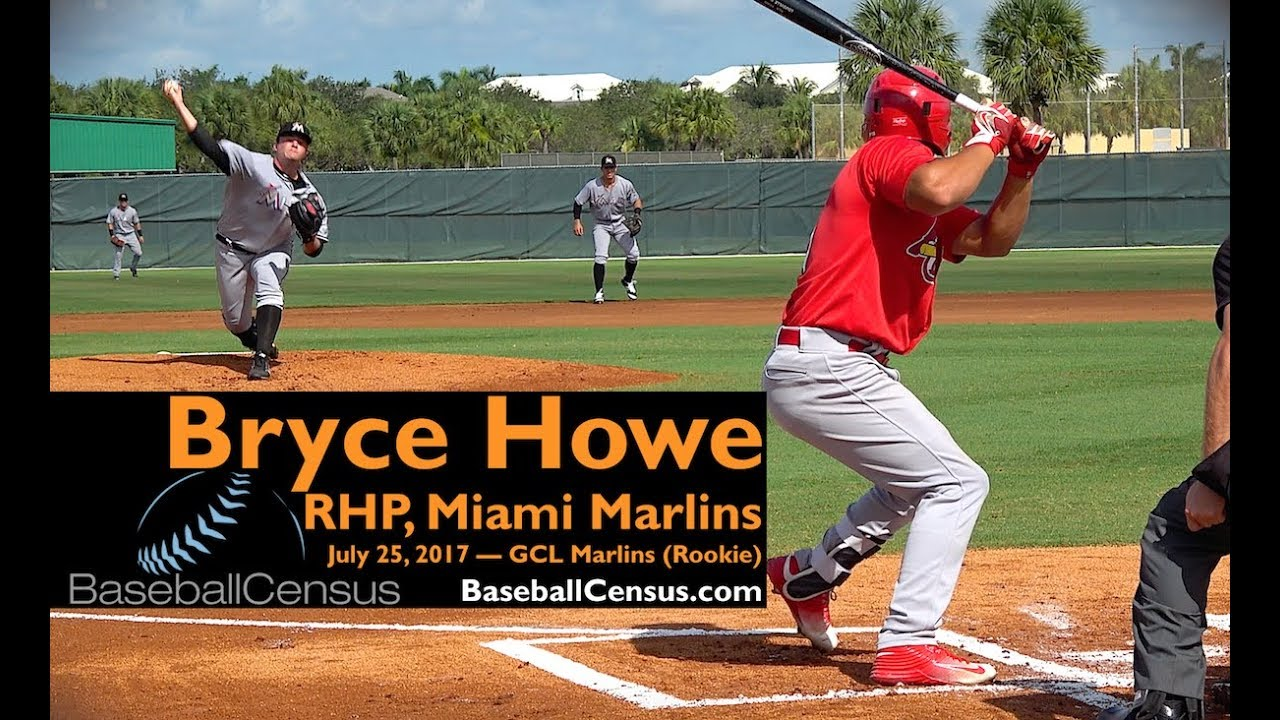 1945665e4 Bryce Howe, RHP, Miami Marlins — July 25, 2017 - YouTube