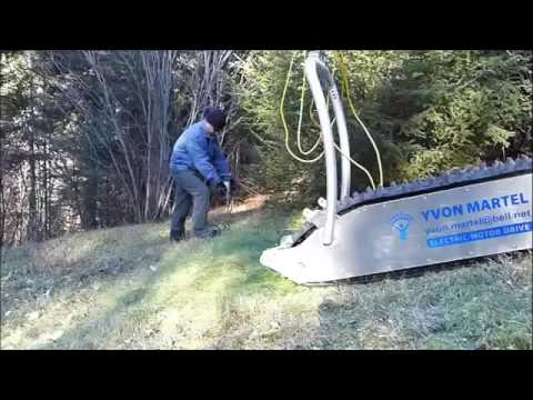 Amazing MTT 136 Electric Sled   My Track Technology   Mind Blowing