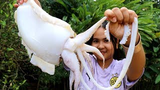 Awesome Cooking : Giant Squid Salad Recipe - Cook & Eating Food Show