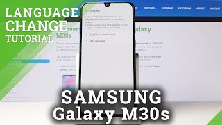 How to Change Language in SAMSUNG Galaxy M30s – Switch Language