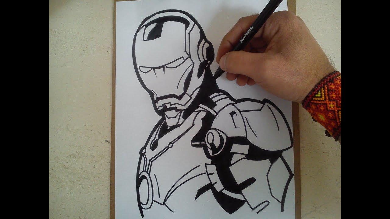 Como dibujar a iron man civil war  HOW TO DRAW A IRON MAN