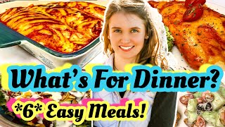 What's For Dinner Tonight? *6* Easy Real Life Dinners | Simple Dinners | Julia Pacheco