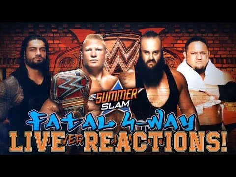 WWE SUMMERSLAM 2017 | Brock Lesnar vs Samoa Joe vs Roman Reigns vs Braun Strowman - Live Reaction!