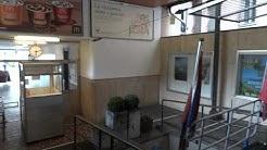 Der kleine Bahnhof der Drahtseilbahn von Locarno nach Orselina.