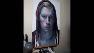 self portrait oil portrait painting time lapse