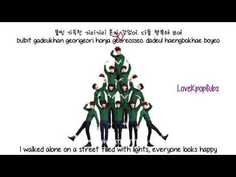 EXO   First Snow 첫 눈 korean ver  English subs + Romanization + Hangul HD
