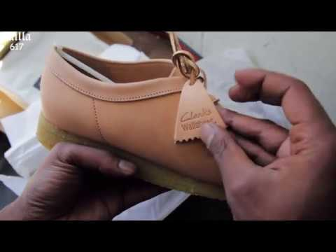Clarks Wallabee Natural Veg Tan Leather Review and ON FEET