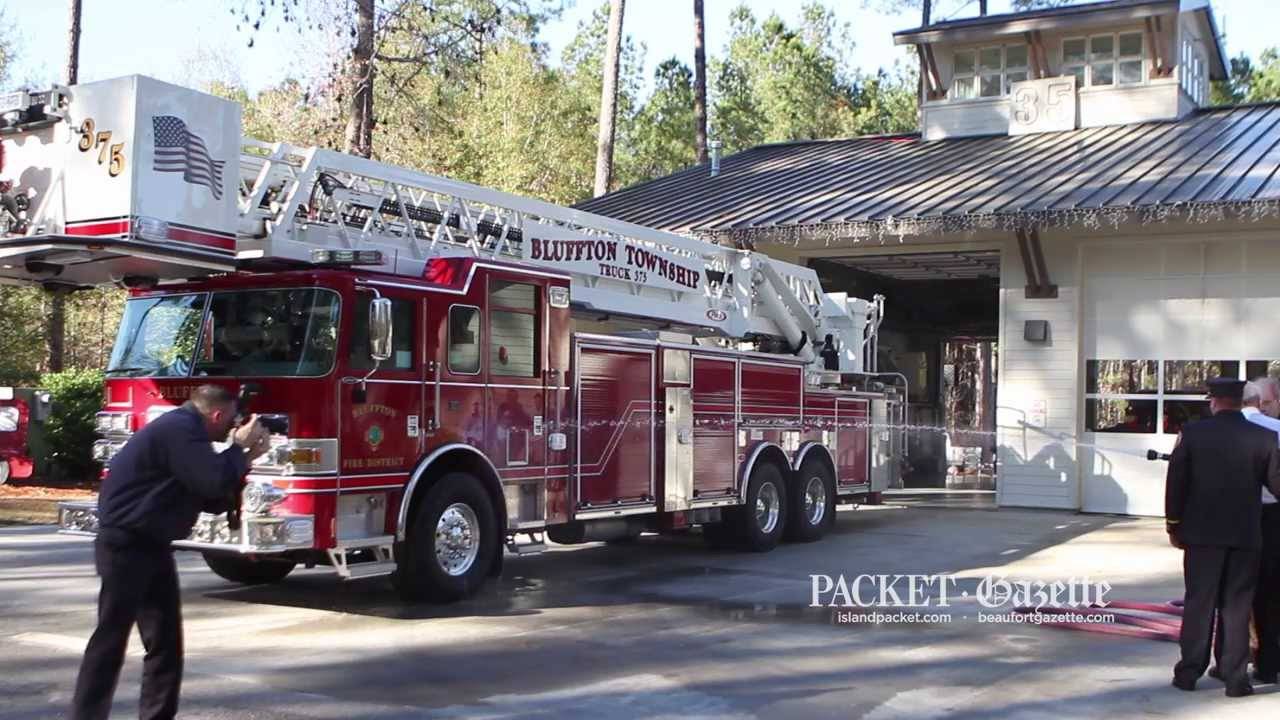 Bluffton Township Fire District gets new aerial truck - YouTube