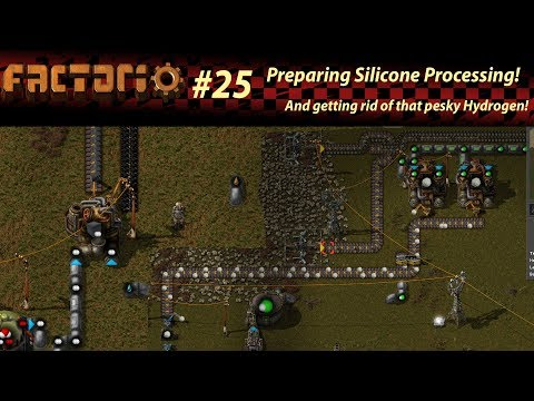 [Warped Wednesday] - Silicon Wafer Preparation and getting rid of Hyrdrogen! - Factorio 0.16 Ep.25