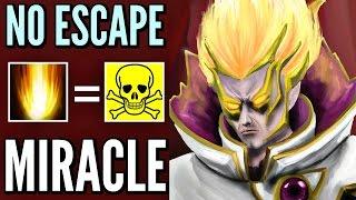 Miracle- INVOKER Dota 2 - No Escape SUNSTRIKE - Pro 9k MMR Gameplay
