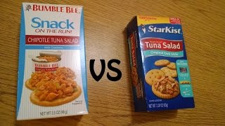 Starkist vs Bumble Bee tuna snack unboxing and shootout