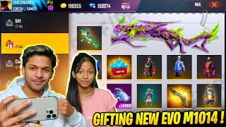 Surprising My Sister With 50,000 Diamonds & New M1014 Green Flame Skin 😱😱😱 Garena Free Fire
