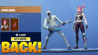 POWER CHORD SKIN & ROCK OUT EMOTE ARE BACK IN SHOP!! Fortnite Battle Royale