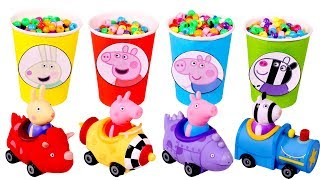 PEPPA PIG 🎊❤️ Descubrimos los vasos mágicos con sorpresas de colores
